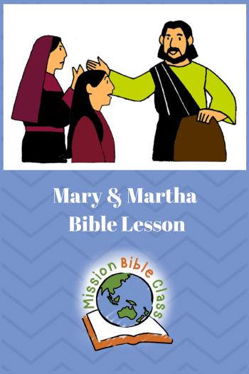 Mary and Martha Pin