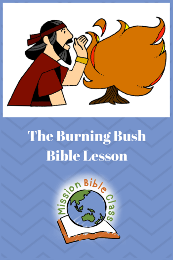 The Lord Speaks from a Burning Bush Pin