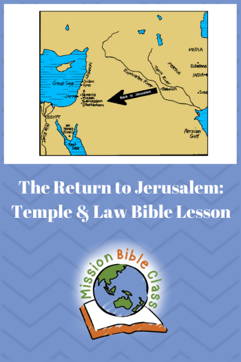 The Return to Jerusalem- Temple and Law Pin