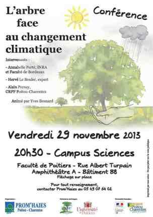 arbre changement climatique conférence