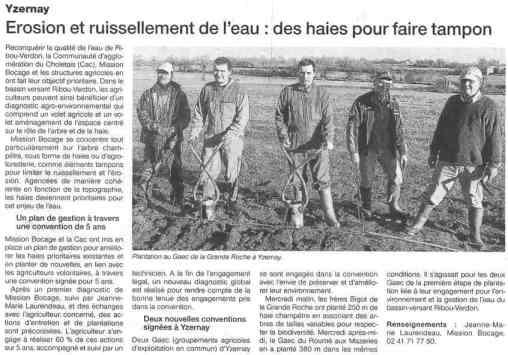 Ouest France. 12 Janvier 2014.