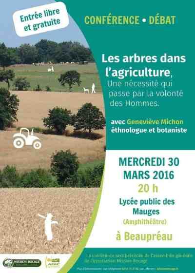 L'intervention de Geneviève Michon prendra tout son sens dans les Mauges où le bocage est un élément structurant du paysage et du développement local.
