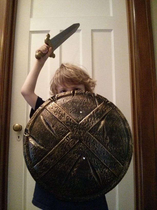 épée romaine et bouclier