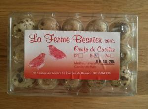 oeufs caille ferme besnier