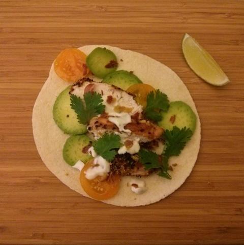 tacos poulet grillés