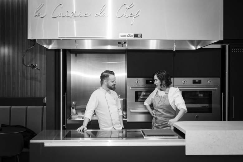 Olivier Vigneault et Kimberly Lallouz dans La Cuisine Rockland