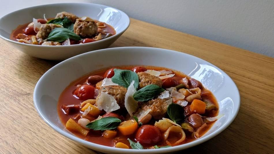 Un classique de la cuisine italienne revisité avec des boulettes de dindon.