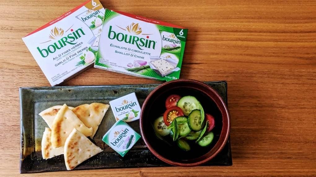 Boursin portion incdividuelle Échalote et ciboulette Ail et fines herbes