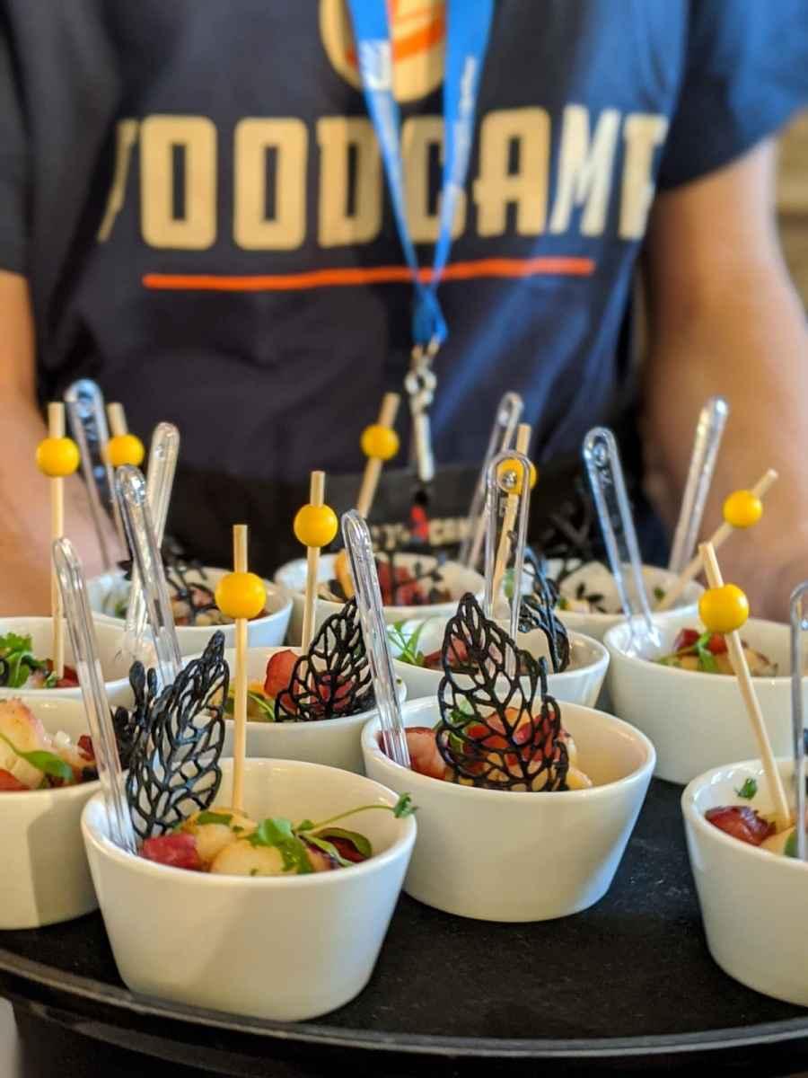 les bouchées de pieuvre pour les participants du FoodCamp Qc