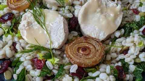 salade orge et dindon poché