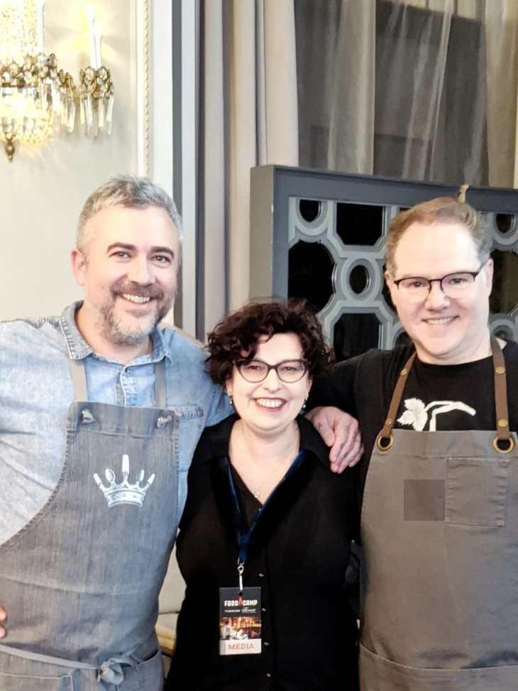 Moi, Martin Juneau et Stéphane Gadbois FoodCampd de Québec 2020