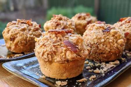 Muffins aux pommes et bacon