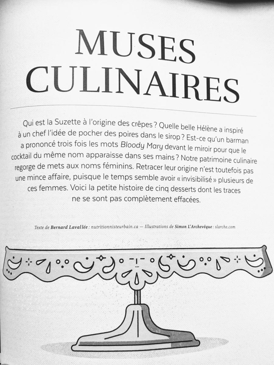 Muses culinaires Caribou magazine Femmes