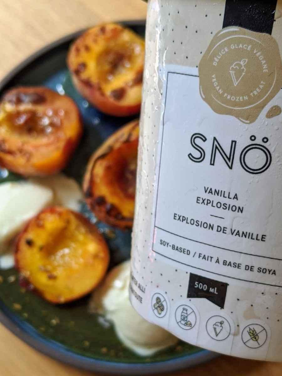 glace SNO vanille et pêche mission Cuisine Urbaine