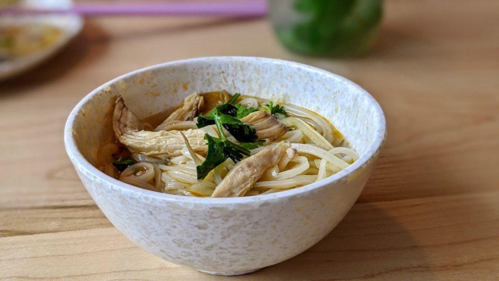Une soupe Pho au pochet recommandé par Lise Dang