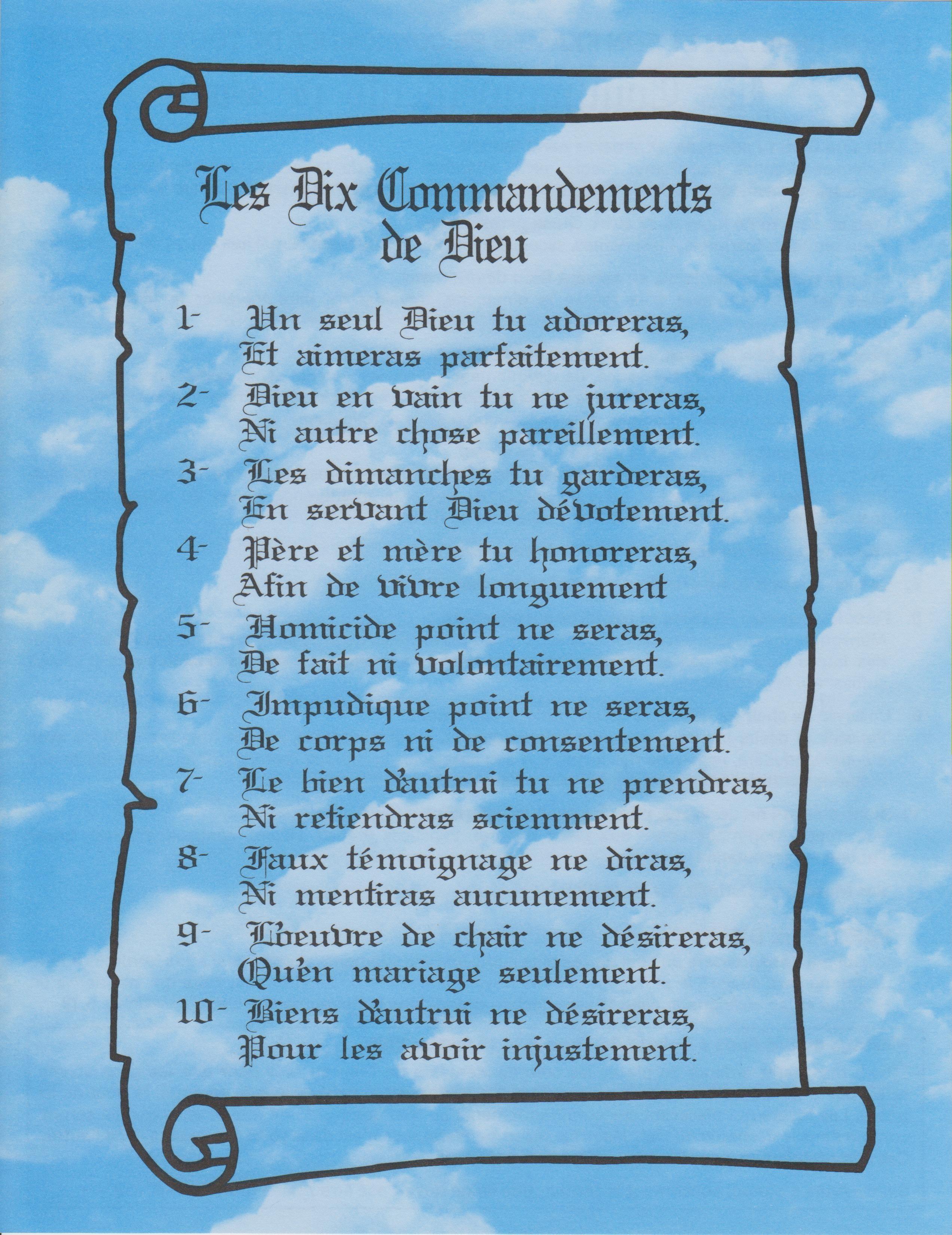 Les 10 Commandements De Dieu : commandements, 53-les-10-commandements-de-dieu, Mission, Sainte, MARIE