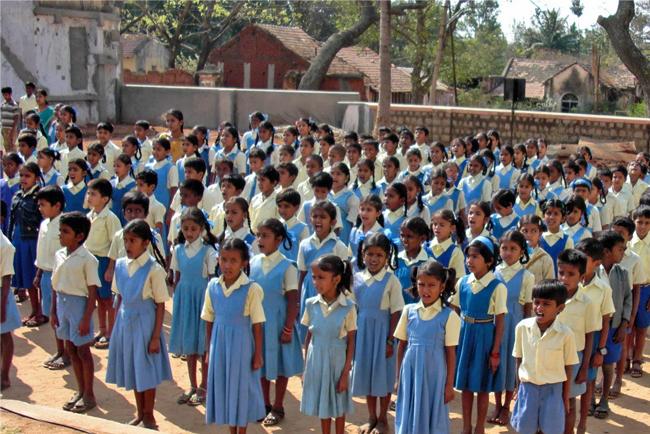 L'école de Ganjam - Rassemblement