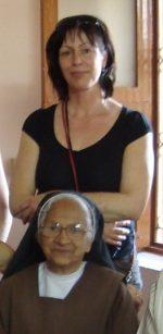 Sylvie et une Soeur de l'école de Ganjam