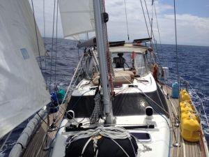 27. Joyful enjoyed wonderful sailing with three sails in use.