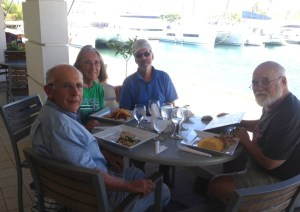 30. Jeff, Anne, Bill, and Ruud at Shelter Bay Marina, Panama.