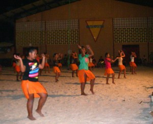 30. Young women from the group, Nunue, practiced Polynesian dances almost every night.