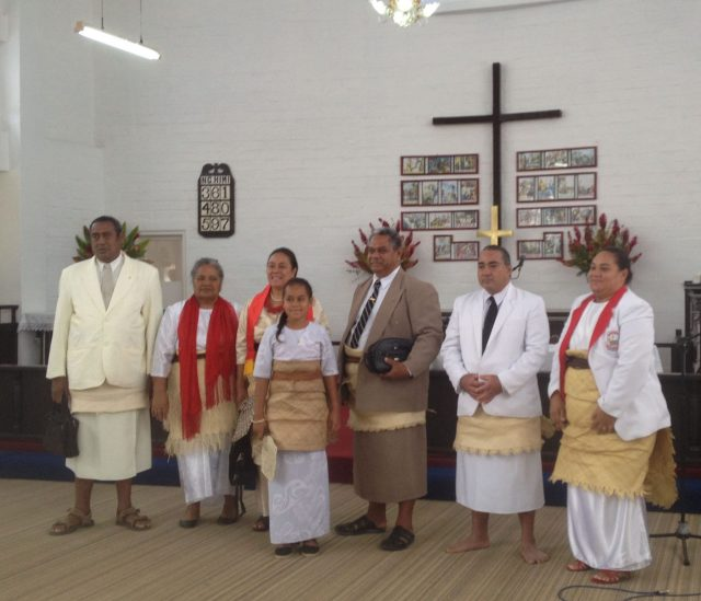 10. Immediately after the service, this wonderful Tongan family celebrated their loved ones having become church deacons. Tongans can go barefooted, wear shoes, or flip flops