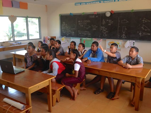 120. Skype - Students from the Vava'u Side School were eager to speak to the Round Hill Elementary School students