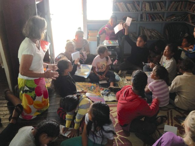 138. These are some of the younger of the 60 children who sat on the floor of the 2 room library. Abby, a Tongan volunteer librarian, translated for me from English to Tonganese because the younger children had not yet learned English in school.
