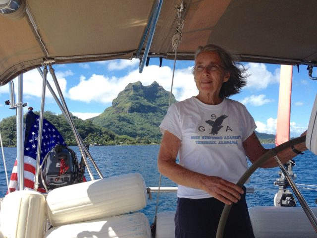 2. Wonderful friends waved a fond fairwell as we sailed off from Bora Bora to our next landfall of Tonga