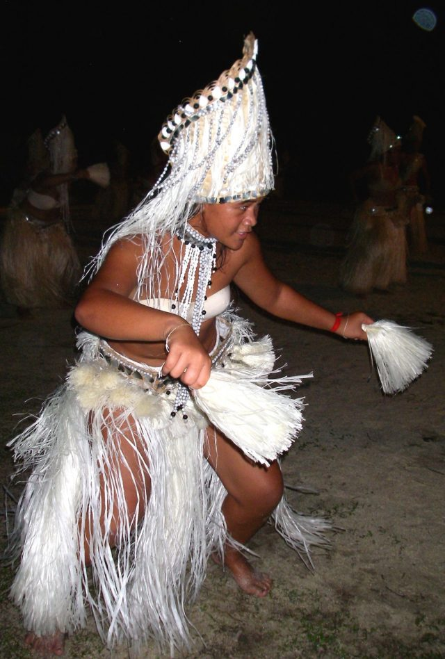 3. This pretty young lady danced for the Nunue team in the Heiva dance final.  The troupe won the grand prize!  They made their traditional costumes with hibiscus fiber, sea shells, and coconut fibers