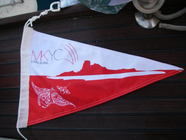 45. Teiva honored Joyful by making her a member of the MaiKai Yacht Club.  Joyful proudly flies the pennant!