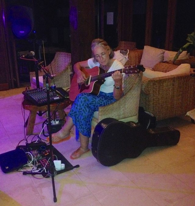 54. Anne played Amazing Grace at a beautiful wedding at the MaiKai Restaurant and Yacht Club in Bora Bora