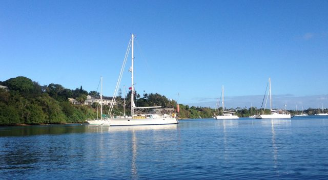 62. Joyful at her peaceful mooring in Vava'u, Tonga