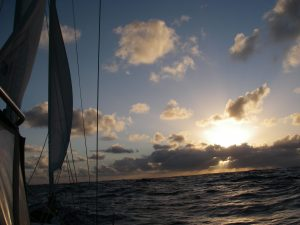 14. Another amazing sunset the Good Lord gave Joyful on this passage to Vanuatu