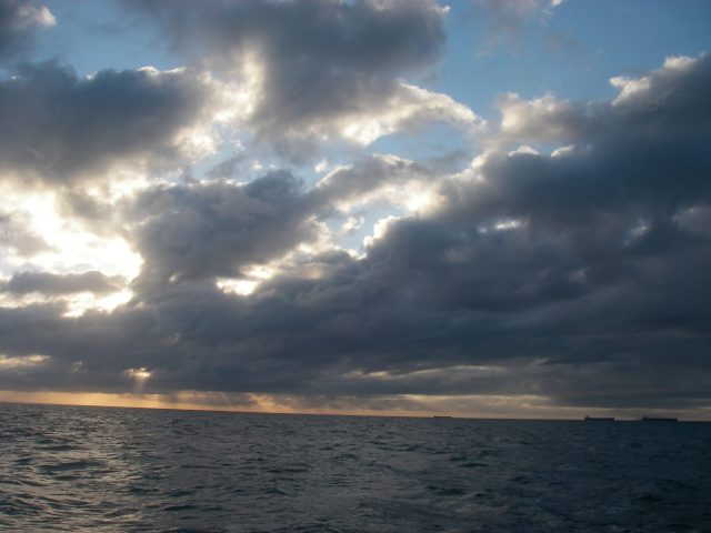 60-approaching-landfall-at-sunrise-is-a-favorite-thing-for-me-it-is-a-dawn-for-a-new-country-new-people-new-blessings-look-at-the-ships-in-the-lower-right-lying-at-anchor-a-mile-from-mackay-aus