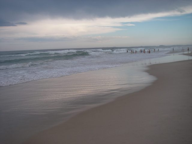 26. A beach at Southport on the Coral Sea