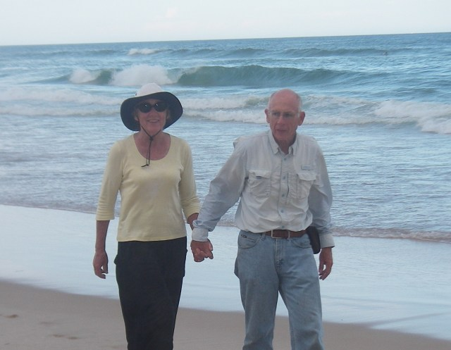 28. Jeff and Anne on the beach at Southport