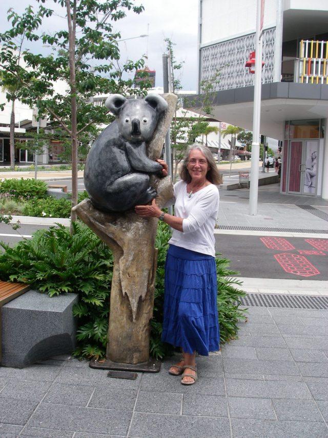 31. Anne and her koala friend in Southport, Australia