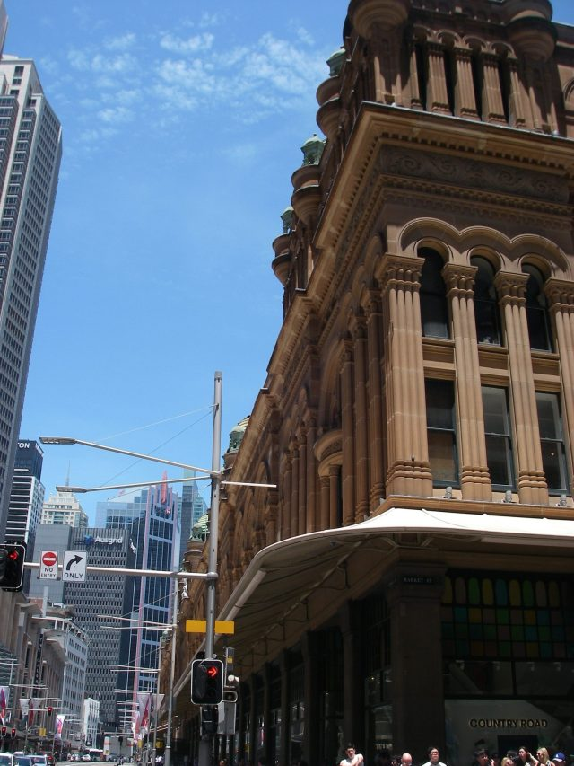45.2. Older buildings such as the Queen Victoria Building amongst modern structures helps to make Sydney one of the most beautiful cities in the world