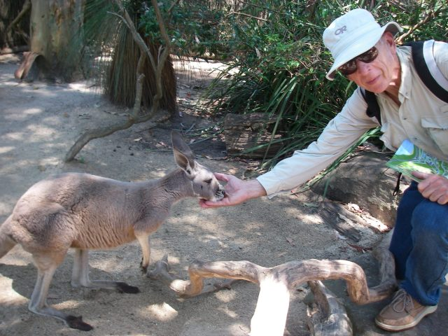 58.6 Jeff makes a wallaby friend in Sydney's Taronga Zoo