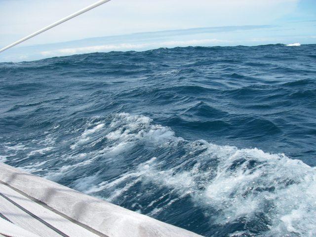 69. Joyful's deck with rolly seas