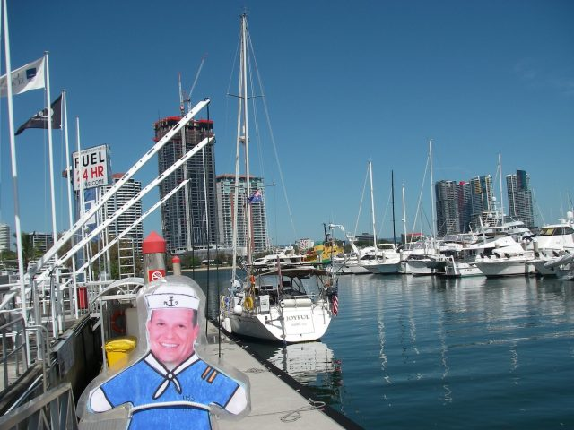 8. Flat Mr. Davis and Joyful at the Southport Yacht Club in Southport, Australia refuling Joyful for her sail to Pittwater, Australia