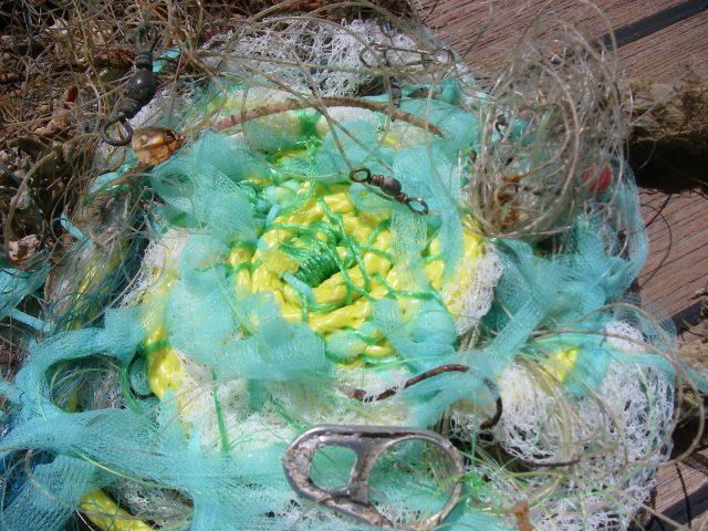 93. New plastic with ocean flotsam plastics, metals, and shells of sea animals