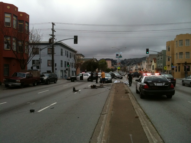 Monday car accident at Cesar Chavez and Florida