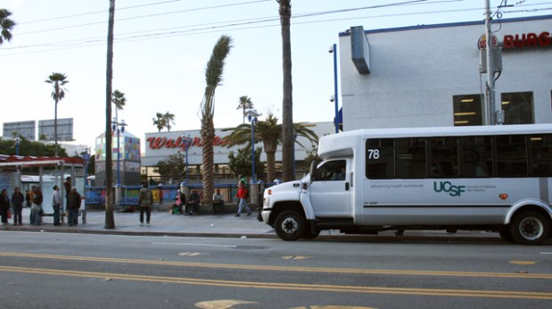 UCSF Shuttle at 16th Street will be available to non-UCSF riders.