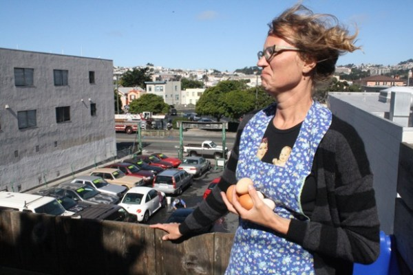 With the bustle of Mission Street behind her, Kooy says she's grateful her 6-year-old daughter is growing up knowing where her food comes from.