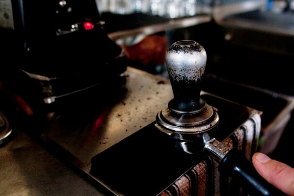 At the Atlas Café at 20th and Alabama this classic coffee tamper is constantly in use.