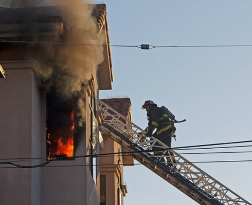 At 7:30 p.m. Wednesday a fire broke out on the top floor of the building on the SW corner of 24th and S. Van Ness.