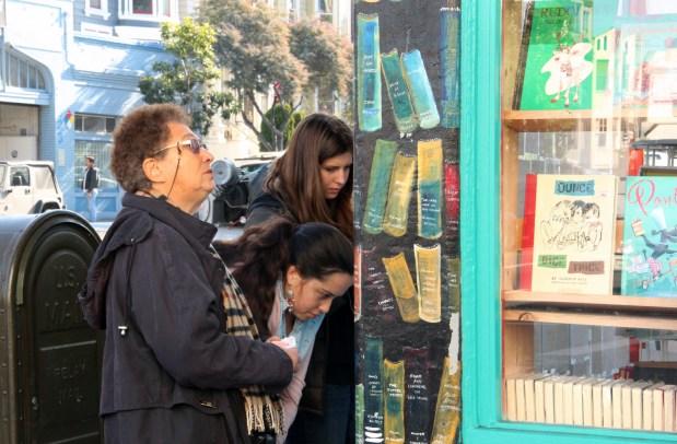 Outside of Dog Eared Books on Valencia.