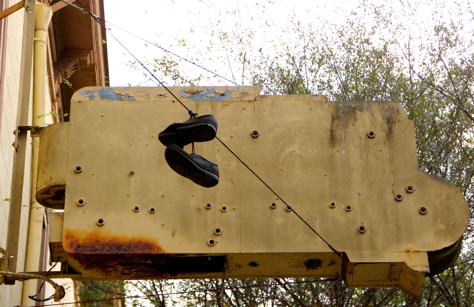 shoes on a wire